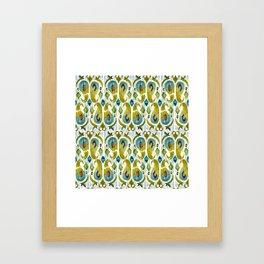 indian cucumbers balinese ikat print mini Framed Art Print
