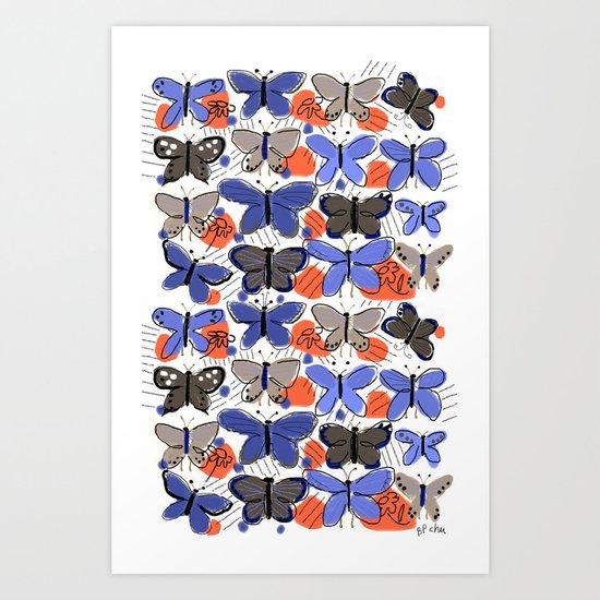 Butterflies Butterflies Art Print