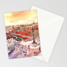 Evening in Warsaw Stationery Cards