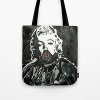 death star Tote Bags featuring Death Star by Matt Pecson