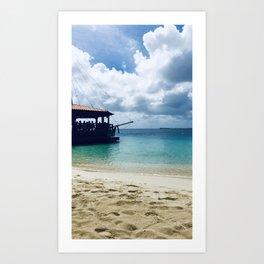 Harbor Village, Bonaire Art Print