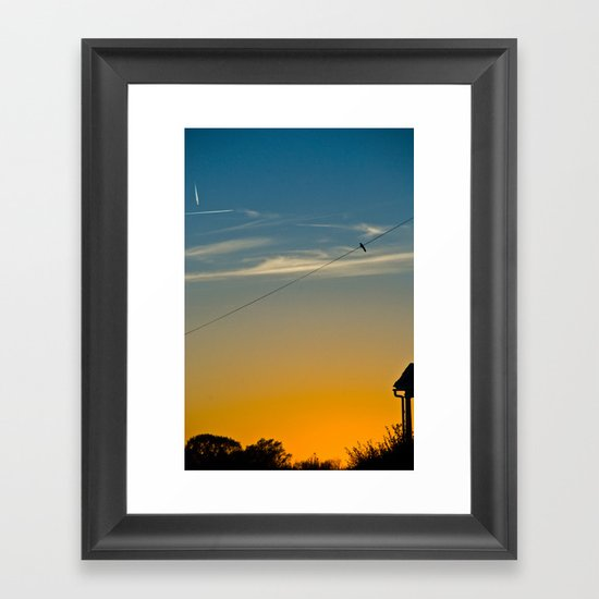 bird silhouette Framed Art Print