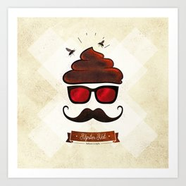 Hipster Hat Art Print