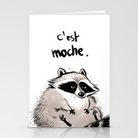 racoon Stationery Cards featuring Racoon by chacomics
