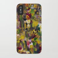 gustav klimt iPhone & iPod Cases featuring Fantasy about Gustav Klimt by Lucid Infinity Art and Design