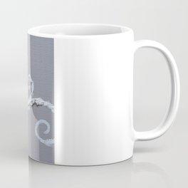 Mamma Bird - Blue on Grey Coffee Mug