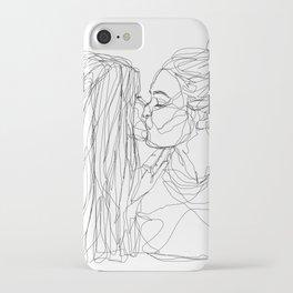 Girls kiss too iPhone Case