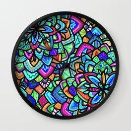 Foral Wall Clock