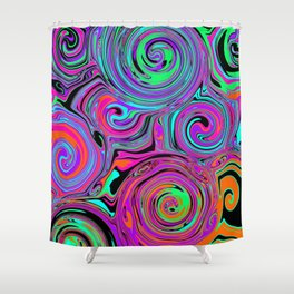 Trippy Psychedelic Swirls Shower Curtain