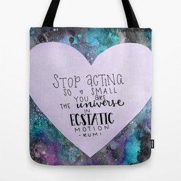 RUMI Watercolor Print Tote Bag