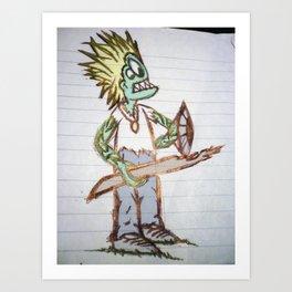 frog man Art Print