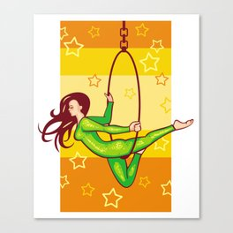 Trapeze-artist under the Circus dome -2 Canvas Print
