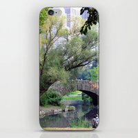 central park iPhone & iPod Skins featuring Central Park by Elizabeth Chung