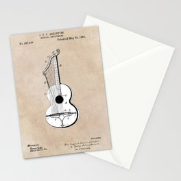 patent art Abelspies 1893 Musical Instrument Stationery Cards