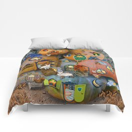 Fall Pumpkin Fantasy Tiny House Village Comforters
