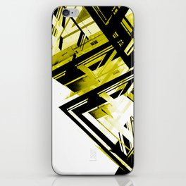 Static1, Black/Gold iPhone Skin