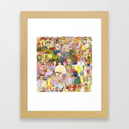 The Fuzzy Crowd Framed Art Print