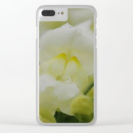 White Snapdragon Clear iPhone Case