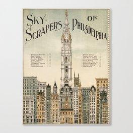 Vintage poster - Philadelphia Canvas Print