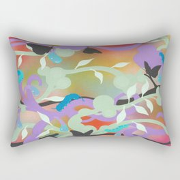 Black Butterflies Rectangular Pillow