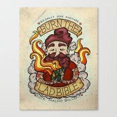 Burn The Lad Bible Canvas Print