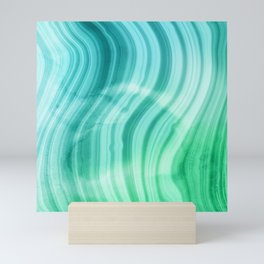 Ocean Blue And Green Mermaid  Marble Mini Art Print
