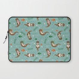 Kawaii Otters Playing Underwater Laptop Sleeve
