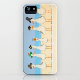 Seagulls with Hats iPhone Case