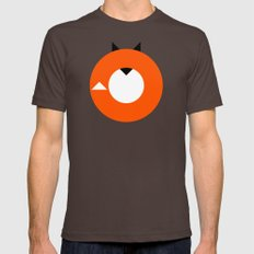 A Most Minimalist Fox Mens Fitted Tee Brown X-LARGE