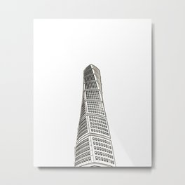 Architecture: Turning Torso Metal Print
