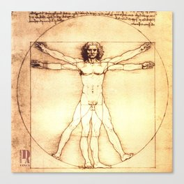 Da Vinci Vitruvio Canvas Print
