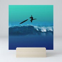 surf crashing Mini Art Print
