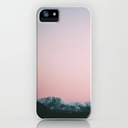 Dusk Mountains iPhone Case