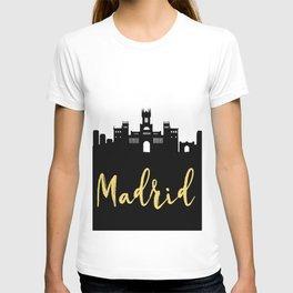 MADRID SPAIN DESIGNER SILHOUETTE SKYLINE ART T-shirt