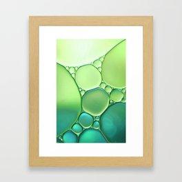 Jade Ombre Bubbles Framed Art Print