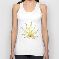 cannabis Tank Tops featuring Golden Cannabis by  Can Encin