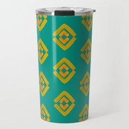 Watercolor Traveler's Geometric Pattern Travel Mug