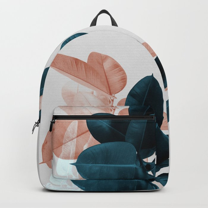Blush & Blue Leaves Rucksack