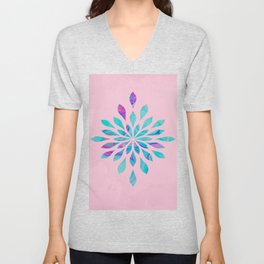Watercolor Burst Cotton Candy Unisex V-Neck