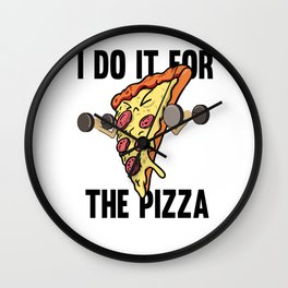 Fitness Pizza Sports Fast Food Diet funny gift Wall Clock