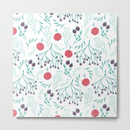 Fruits Forest Berries Metal Print