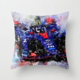 Sam Bird, Formula E Throw Pillow