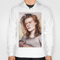 coconutwishes Hoodies featuring Harry watercolors III by Coconut Wishes