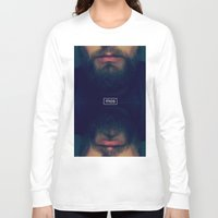 beard Long Sleeve T-shirts featuring Beard by Artistic Nerd
