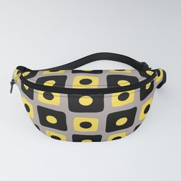 Mid Century Square Dot Pattern 5 Fanny Pack