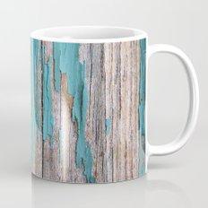 Rustic turquoise weathered wood shabby style Mug