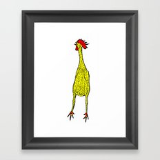 Rubber Chicken Framed Art Print