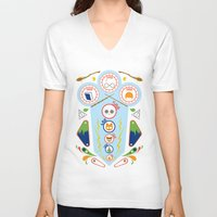 wizard V-neck T-shirts featuring Pinball Wizard by Ashley Hay