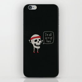 Skull in your Face iPhone Skin