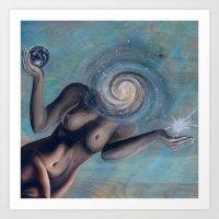 Space Face (rotate canvas prints)  Art Print